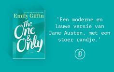 Emily Giffin – The One & Only [*** 3/5 sterren]  Een moderne liefdesklassieker op originele locatie. Je leert American football waarderen en wordt een beetje jaloers op begrippen als college en game season en de romantiek ervan (want veel dieper dan dat gaat het niet).