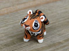 Tiny tiger Handmade miniature polymer clay by AnimalitoClay, $28.00