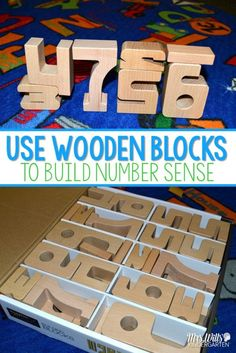 Use wooden blocks to