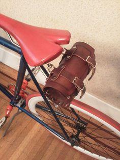 Leather Bike Tool Bag, Underseat/handlebar.. $50.00, via Etsy.