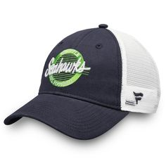 Seattle Seahawks NFL Pro Line by Fanatics Branded Circle Logo Trucker  Adjustable Hat - College Navy White. NFL Caps   Hats f32eb8e3fcc1