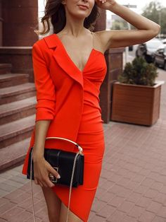 Fashionable One Shoulder Red bodycon dress bodycon dress outfit bodycon dress fo. - Fashionable One Shoulder Red bodycon dress bodycon dress outfit bodycon dress formal bodycon dress casual bodycon dress homecoming Source by visesens - Bodycon Dress Formal, Bodycon Dress Parties, Elegant Dresses, Casual Dresses, Dress Outfits, Fashion Dresses, Frack, Ladies Dress Design, Evening Dresses