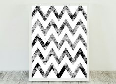 Black and white Abstract print abstract art nordic by CristylClear