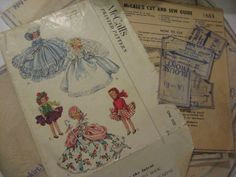 ORIGINAL Doll Clothes Pattern 1653 for 7.5 in Ginny Muffie Alexander Kin  Vogue #McCalls