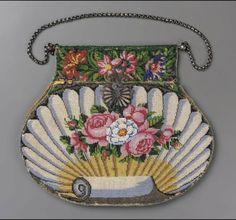 Exquisite petite point bag, 1810-30 France, Museum of Fine Arts, Boston.