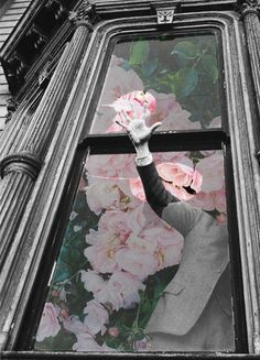 """""""Rescue"""" by Merve Ozaslan #collage #art #digitalart #color #vintage #nature #surreal #black and white #roses"""