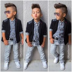 2015 new spring boys beautiful jeans wear clothes kids suits children boys jacket+plaid shirt +denim pants Clothing Set Like and share if you think it`s fantastic! Visit our store Fashion Kids, Toddler Boy Fashion, Little Boy Fashion, Fashion Clothes, Fashion 2016, Suit Fashion, Style Fashion, Autumn Fashion, Fashion Purses