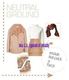 """""""Neutral Ground"""" by briarhoney ❤ liked on Polyvore featuring STELLA McCARTNEY, Dion Lee, Balmain, IRO, Meadham Kirchhoff, Bee Goddess, Messika and neutrals"""