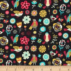 Designed by Allison Cole for Camelot Fabrics, this cotton print is perfect for quilting, apparel and home decor accents.  Colors include dark graphite grey, white, grey, mint, aqua, yellow, orange and magenta.
