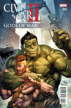 CIVIL WAR II GODS OF WAR #1 (OF 4) ANACLETO VAR