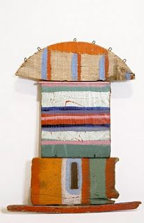 painted driftwood assemblage by Betty Parsons