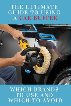 The ultimate guide to using a car buffer including an enormous list of car buffing tips and tricks. Automotive Detailing, Car Detailing, Car Buffer, Auto Body Work, Car Polish, Car Cleaning Hacks, Car Gadgets, Car Tools, Diy Car