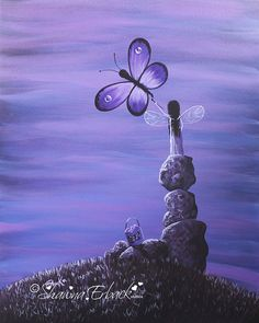 Original Painting    TITLE  Amethyst Fairie    Thanks for looking at my painting today. I hope you enjoy it or even consider adding this painting to