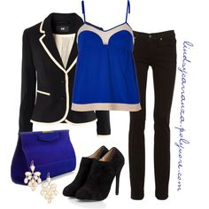 Black and Blue, created by lindsycarranza on Polyvore