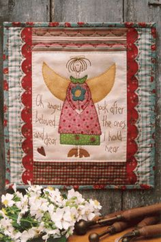 Beloved Angel quilt and stitchery pattery by Anni Downs | Hatched and Patched