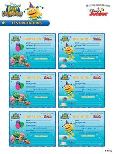 (site, imprimables et textes en français) Henry Hugglemonster, Invitation, Drawing Conclusions, Disney Junior, Me On A Map, Disney Parties, Activities, Maps, Google