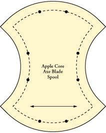 APPLE CORE QUILT TEMPLATE..........PC