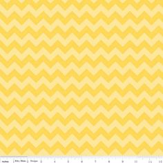 Small Chevron Yellow Tonal Riley Blake 1 yard by selvage123. $7.25, via Etsy.