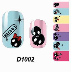 1 Pcs Lovely Manicure Wraps Colorful Adhesive Water Transfer Nail Art Stickers Style Code D1002 -- Want additional info? Click on the image.