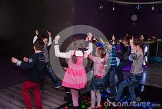 Cheerful children`s disco.Ukraine,Kiev.Kidlandia 19 February 2017