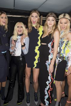 Versace Fall 2016 Ready-to-Wear Fashion Show Backstage