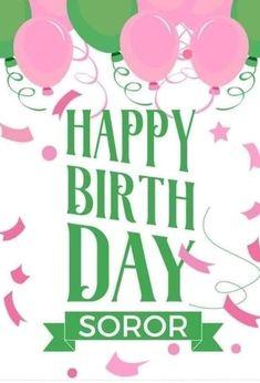 Aka Sorority, Alpha Kappa Alpha Sorority, Sorority Life, Happy Birthday Images, Happy Birthday Wishes, Alpha Kappa Alpha Paraphernalia, Beautiful Birthday Wishes, Pink Apple, Everything Pink