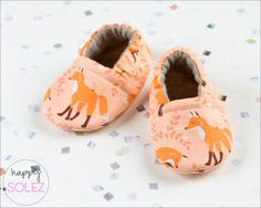 Coral Fox // Baby Booties // Crib Shoes  by HappySolez