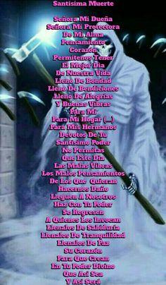 Santa Muerte Prayer, Mother Mary Tattoos, Life Hacks Websites, Death Tattoo, Magick Spells, Spiritual Guidance, Angel Of Death, Grim Reaper, Spelling