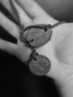 These were the actual tags my Grandad had in I found them at the bottom of the box with all the photos. Dog Tags Military, Ww2, Bracelets, Dogs, History, Jewelry, Historia, Jewlery, Jewerly