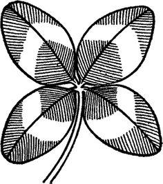 Vintage Four Leaf Clover Image! - The Graphics Fairy