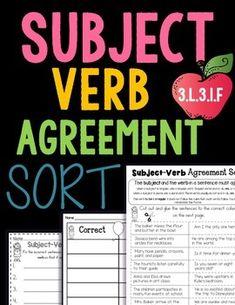 Subject Verb Agreement by Rock Paper Scissors | Teachers Pay Teachers