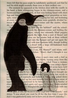 Digital Print Penguin Mom and Baby by momoma on Etsy, $7.00