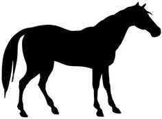 Horse silhouette to use in Henry's room