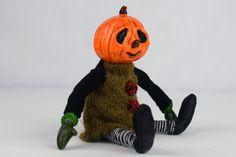 OOAK Halloween Kunst Puppe PETRONELA Jack o von Linas4oClockFriends