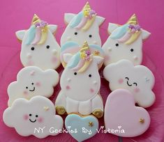 Unicorn Full body Cookies Unicorn Face Cookies Rainbow