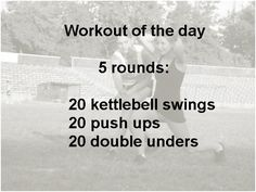20 KBS, 20 push ups, 20 DUs (or switch last one for something else) Crossfit Workouts At Home, Crossfit Motivation, Running Workouts, Best Pre Workout Food, Crossfit Endurance, Rower Workout, I Work Out, Workout For Beginners, Fitness Inspiration