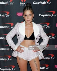 Halsey displayed dark locks during last years Jingle Ball in Atlanta. Shortly after her performance she was seen wearing a cast because of a broken foot.