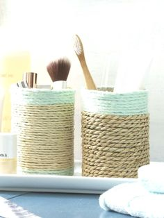 4 einfache DIY-Ideen: Upcycling mit Konservendosen #diydecorationideen #diydekoration Art Projects, Projects To Try, Pet Fashion, Diy For Girls, Diy And Crafts, Upcycle, Sweet Home, Basket, House Design