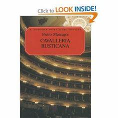 Mascagni Opera List | Pietro Mascagni Cavalleria Rusticana Vocal Score Opera: Amazon.co.uk ...
