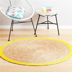 23 Clever Kmart Hacks That'll Take Your Decor To The Next Level Kmart Decor, Interior Rugs, Rug Shapes, Floor Decor, Jute Rug, Round Rugs, Rugs In Living Room, Dining Rooms, Floor Rugs
