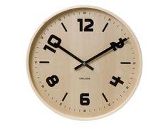 Zegar ścienny Pure Wood by Karlsson śr. 45cm. Bardzo nowoczesny i ciekawy design.  http://bogatewnetrza.pl/pl/p/Zegar-scienny-Pure-Wood-by-Karlsson-sr.-45cm/303