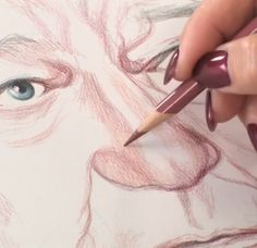 Art Lessons: Draw Faces in Colored Pencil