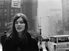 Francoise Hardy in New York City, 1965.