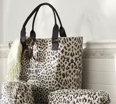 Leopard Tote Bag #potterybarn #Leopard