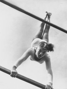 US Gymnast Muriel Davis Practicing at the National Gymnastic Clinic Photographic Print by Stan Wayman at Art.com