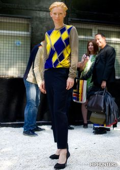 Tilda Swinton - Look 1 http://www.hiphunters.com/magazine/2014/02/05/style-crush-tilda-swinton/