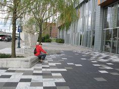 Places and Spaces: Friday Photos: Boston Children's Museum Landscape Architecture, Landscape Design, Paving Pattern, Paving Design, Pedestrian, Pavement, Plaza, Garden Paths, Sidewalk