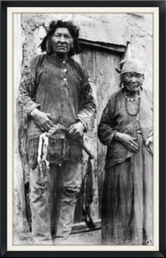 A man of the Chippewa Nation with his wife, Riding Star of the Turtle Mountain Band of the Chippewa