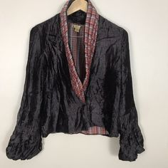 3a90ae5c Women's April Cornell Crushed Velvet Boho Bell Sleeve Shrug Jacket Small