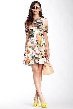 a1fd82c98b1 Timlia Floral Print Dress Cute Short Dresses
